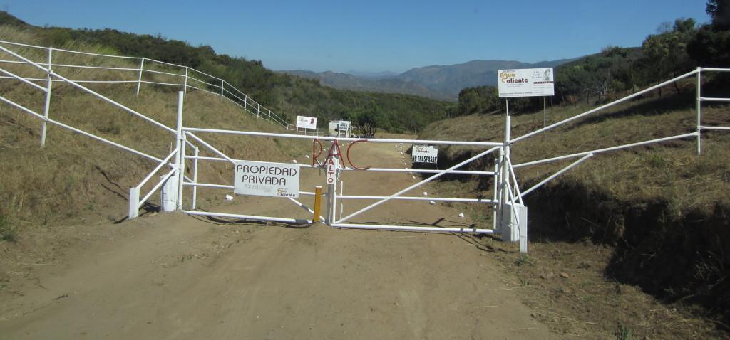 Rancho Agua Caliente Entrance Gate