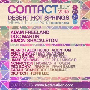 Native Alien Contact LIneup