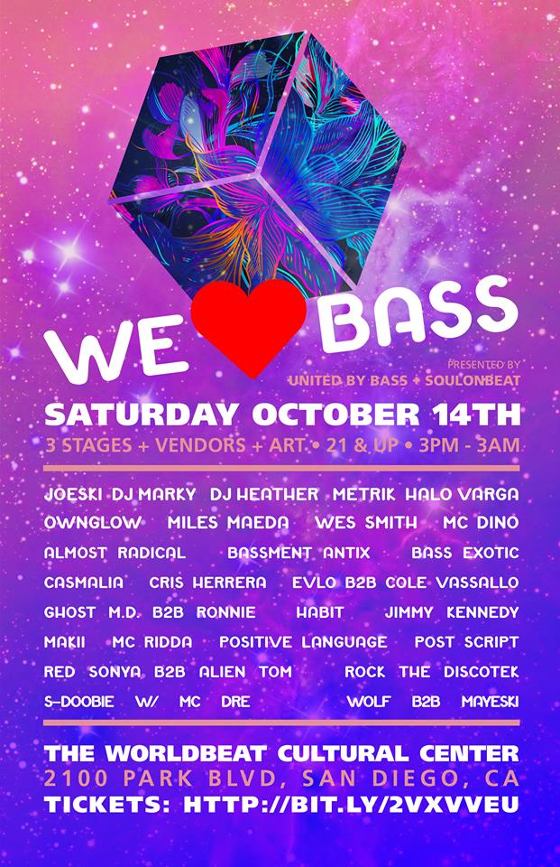 We Love Bass Poster